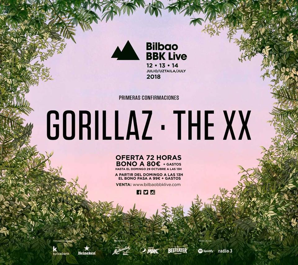 bilbao-bbk-live-2018-gorillaz-the-xx The XX y Gorillaz, primeros confirmados del Bilbao BBK Live 2018