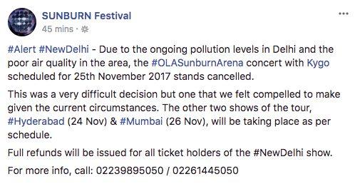 KYGO Kygo cancela su concierto por altos niveles de contaminación