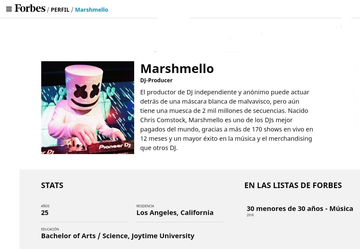 Marshmello-en-Forbes-EDMred Forbes nos da la razón: Marshmello es Dotcom