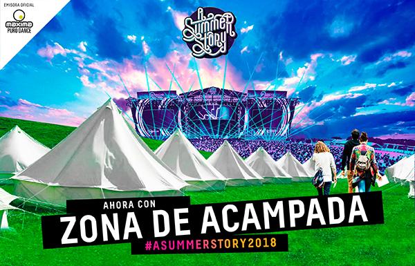 acam Habrá zona de acampada en la cuarta edición de A Summer Story 2018