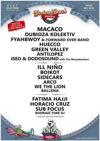 weekend-318x450 Sub Focus, Fatima Hajji y Horacio cruz se unen a Weekend Beach Festival