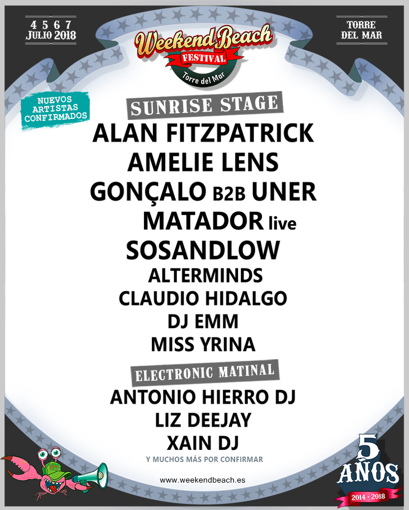 AVANCE_sunrise_weekend Nuevas confirmaciones para el quinto aniversario de Weekend Beach Festival
