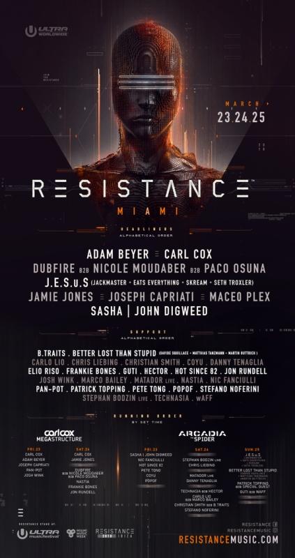 Resistance-Miami-2018 Impresionante cartel para el Resistance de Ultra Miami 2018