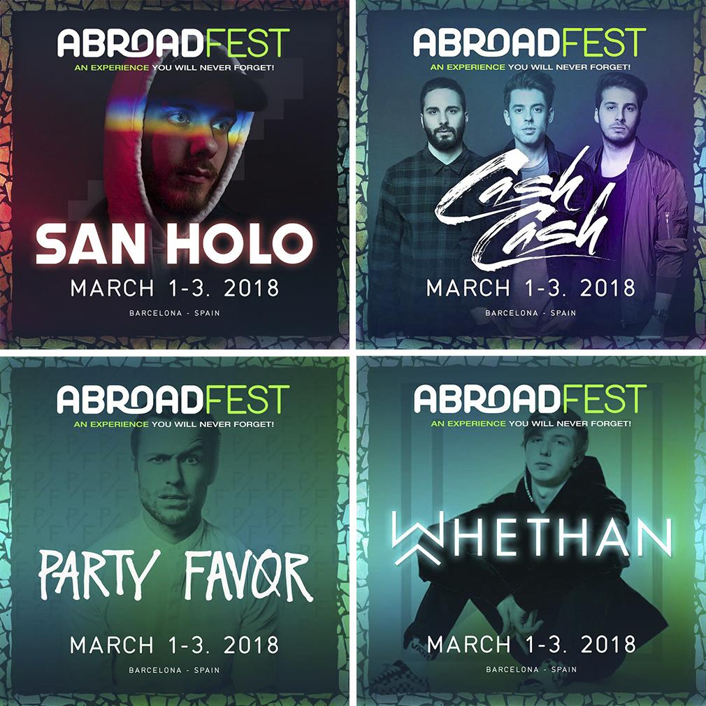 AbroadFest-2018-cash-cash-san-holo-party-favor-whethan AbroadFest se luce con sus últimas confirmaciones: San Holo, Cash Cash y Party Favor