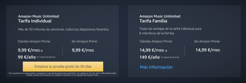 tarifas-amazon-music-unlimited Amazon Music Unlimited