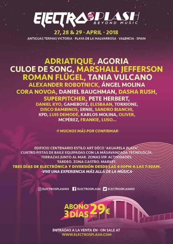 CARTEL-ELECTROSPLASH-2018-PRIMERAS-CONFIRMACIONES-EDMred Electrosplash 2018 desvela sus primeros artistas