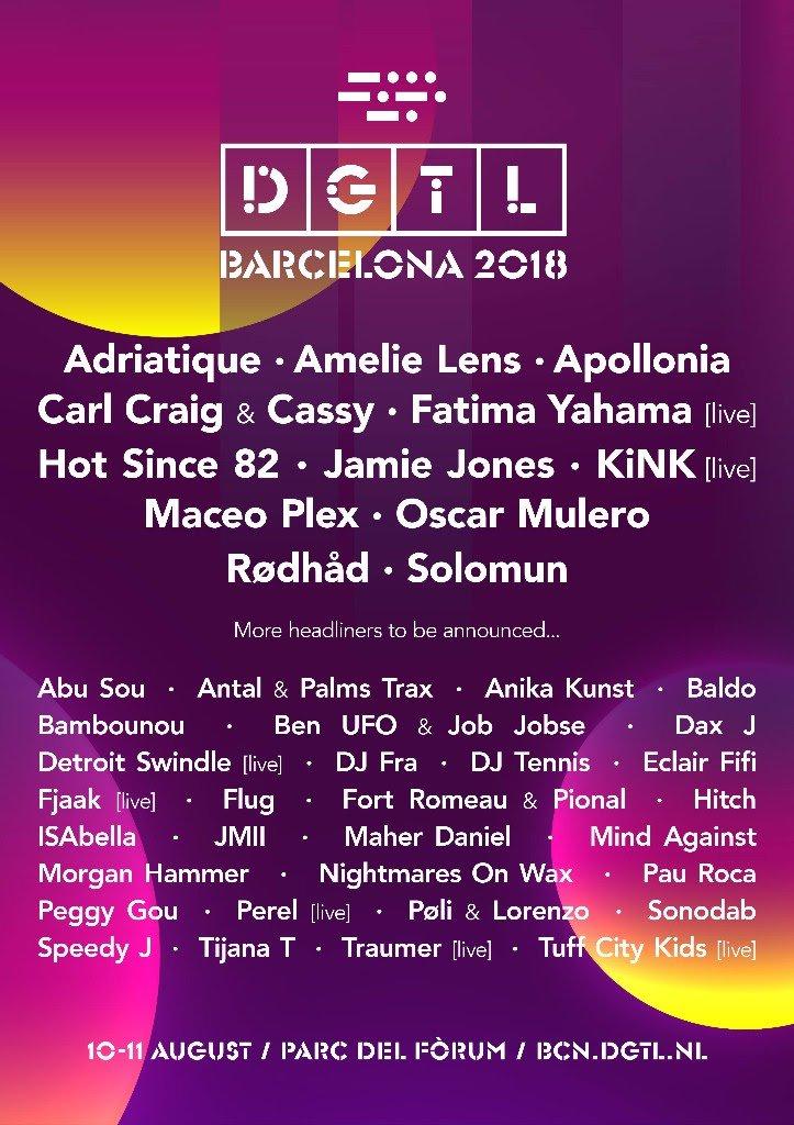 DGTL-Barcelona-2018-primer-avance-cartel DGTL Barcelona 2018 desvela más de 40 artistas en su primer avance de cartel