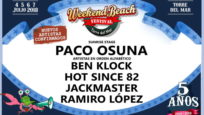 Photo of Weekend Beach Festival = Mucha electrónica