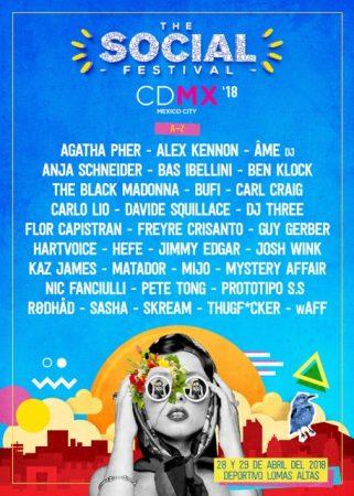 SOCIAL-2018-A3-321x450 The Social Festival en Ciudad de México revela el line up para la edición de 2018