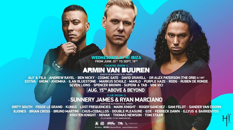 armin_van_buuren_sunnery_james_ryan_marciano_residencia_hi_ibiza_2018 Hï Ibiza anuncia el cartel completo de la temporada para los miércoles con Armin van Buuren y Sunnery James & Ryan Marciano