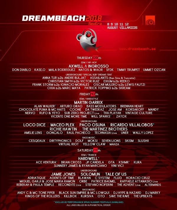 cartel-por-dias-Dreambeach-2018-EDMred Sorteo Dreambeach 2018
