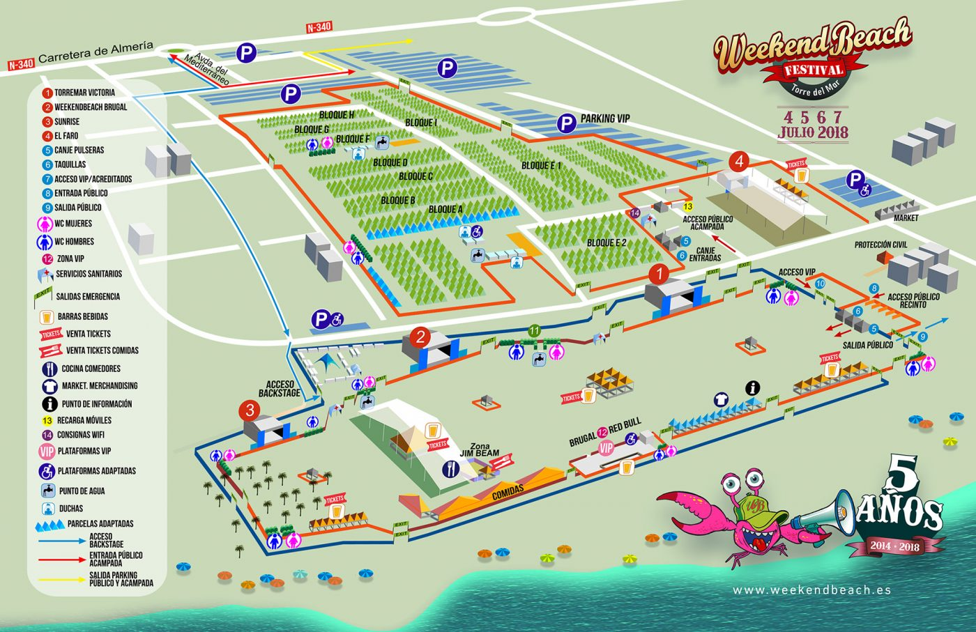 PLANO_WEEKENDBEACH_2018-1 Todo listo para Weekend Beach Festival 2018