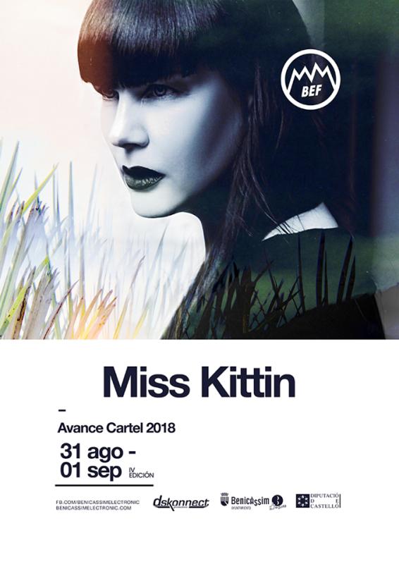 CARTEL-AVANCE-BEF-2018-en-EDMred BEF 2018 trae a Miss Kittin de nuevo a Benicássim