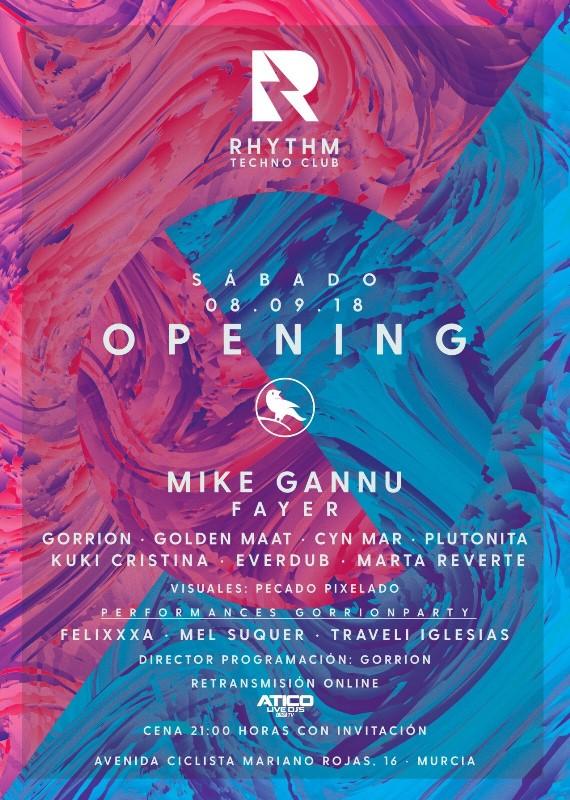 CARTEL-INAUGURACION-RHYTHM-TECHNO-CLUB-en-EDMred Rhythm Techno Club abre sus puertas en Murcia