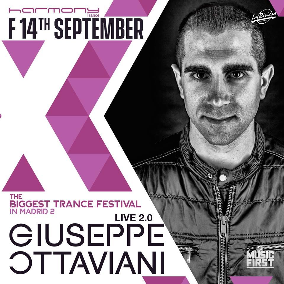 "harmony-biggest-trance-festival-2-giuseppe-ottaviani Harmony presenta la segunda edición de ""The Biggest Trance Festival In Madrid"" y sus primeros artistas confirmados"