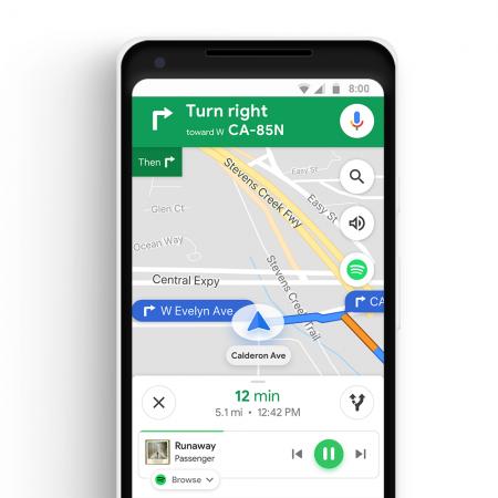 Spotify-en-Google-Maps-450x450 Google Maps permitirá controlar Spotify desde su aplicación