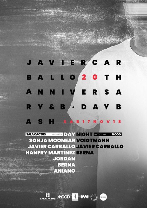 CARTEL-JAVIER-CARBALLO-20-ANIVERSARIO_17-NOVIEMBRE-2018 Javier Carballo celebra sus 20 años en la electrónica