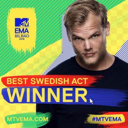 avicii-best-swedish-act-450x450 Avicii es galardonado con un MTV EMA 2018