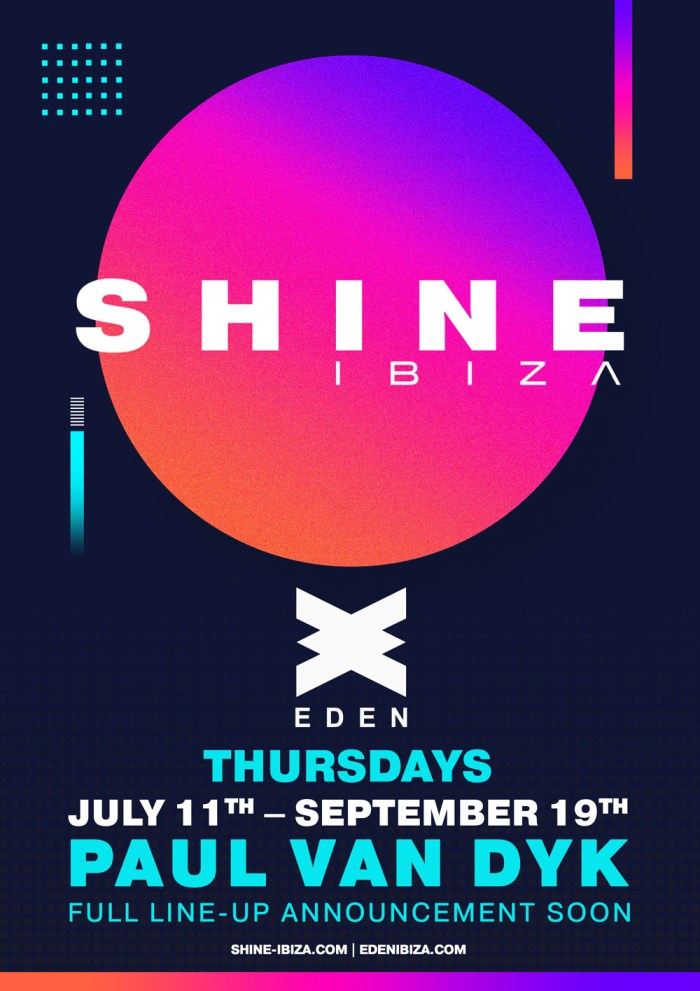 SHINE-Eden-2019 Paul Van Dyk confirma la segunda temporada de Shine en Ibiza