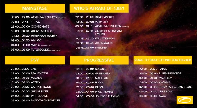 timetable-asot-900-utrecht Armin van Buuren abrirá el festival ASOT 900 de Utrecht con un set a vinilos