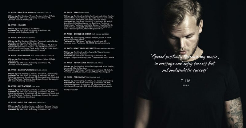 Avicii-TIM-tracklist-2019-billboard-embed-800x418 Revelado el tracklist de 'Tim', el disco de Avicii