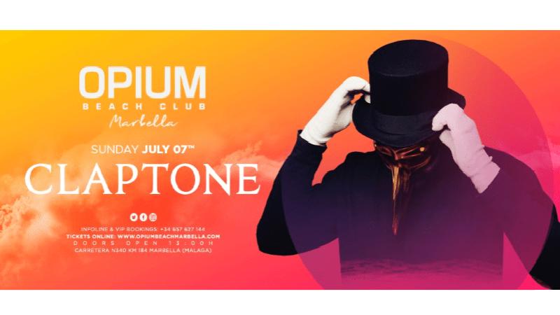 Opium-Marbella-Claptone-EDMred Claptone es el nuevo invitado de Opium Marbella