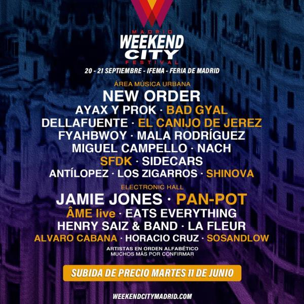 cartel-Weekend-City-Madrid-en-EDMred Pan-Pot y ÂME live entre las nuevas confirmaciones de Weekend City Madrid