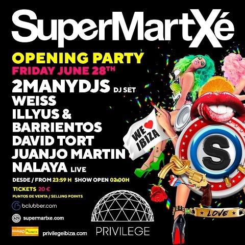 opening-party-supermartxe-2019-EDMred Nueva temporada de SuperMartXé en Privilege Ibiza