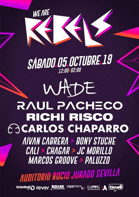 Cartel-We-Are-Rebels-en-EDMred We Are Rebels Sevilla
