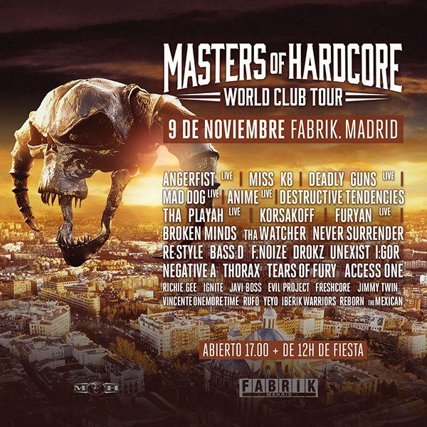 EFpFAQnXkAEt9tE Masters Of Hardcore viene a Madrid con todo