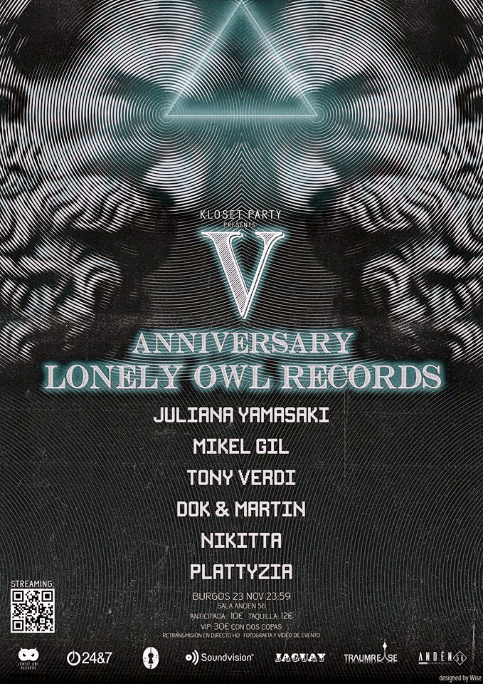 CARTEL-FINAL-V-ANIVERSARIO-LONELY-OWL-RECORDS-NOV-2019 Kloset presenta V Aniversario Lonely OWL Records