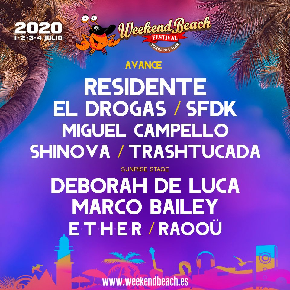 Confirmados-Weekend-Beach-2020-EDM-RED Weekend Beach 2020 > Cartel, noticias e info actualizada