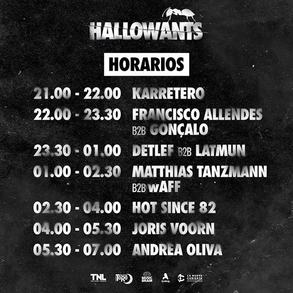 horarios-HallowANTS-2019-en-EDMred Horarios de HallowANTS 2019
