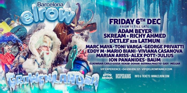 elrow-Growenlandia-Barcelona-2019-EDMred Adam Beyer y Skream encabezan la edición más fría de elrow Barcelona