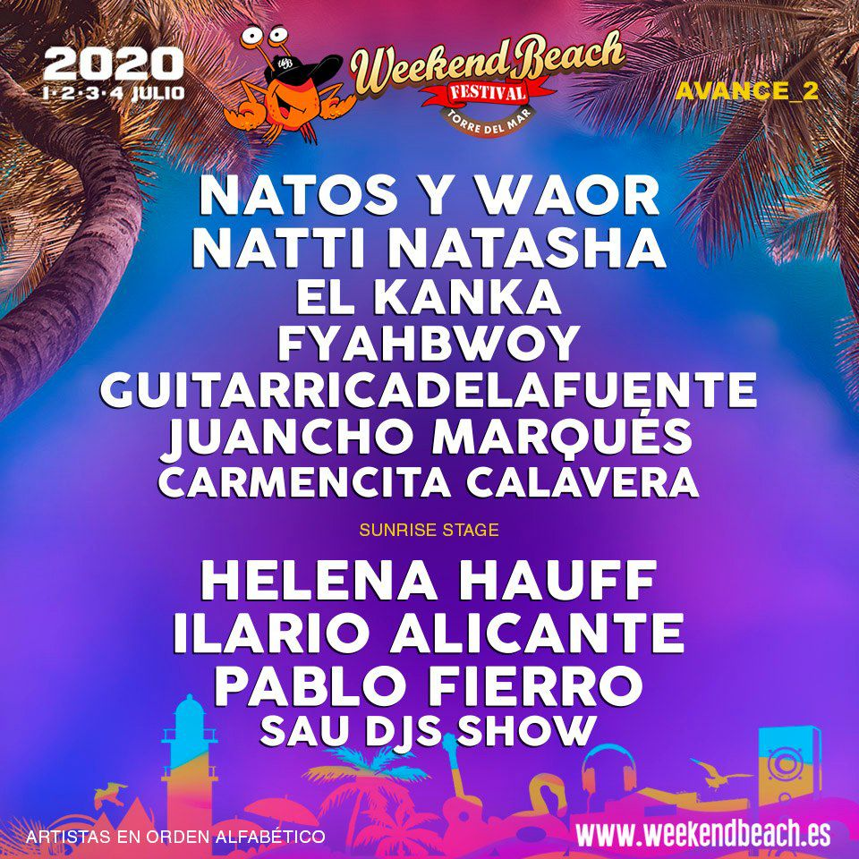 AVANCE-2-weekend-beach-festival-2020-EDMred Weekend Beach 2020 > Cartel, noticias e info actualizada