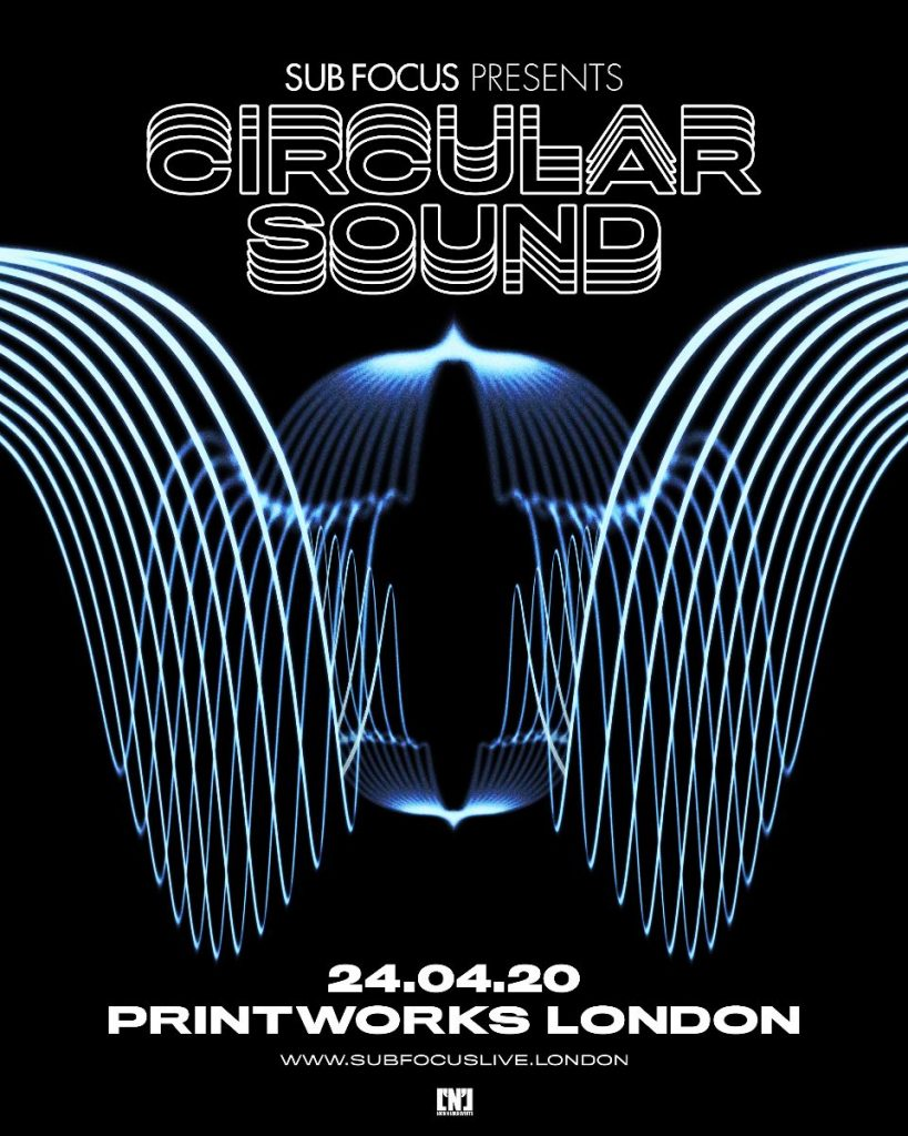 Sub-FOcus-London-819x1024 Sub Focus anuncia su nuevo Live Show 'Circular Sound' en Printworks London