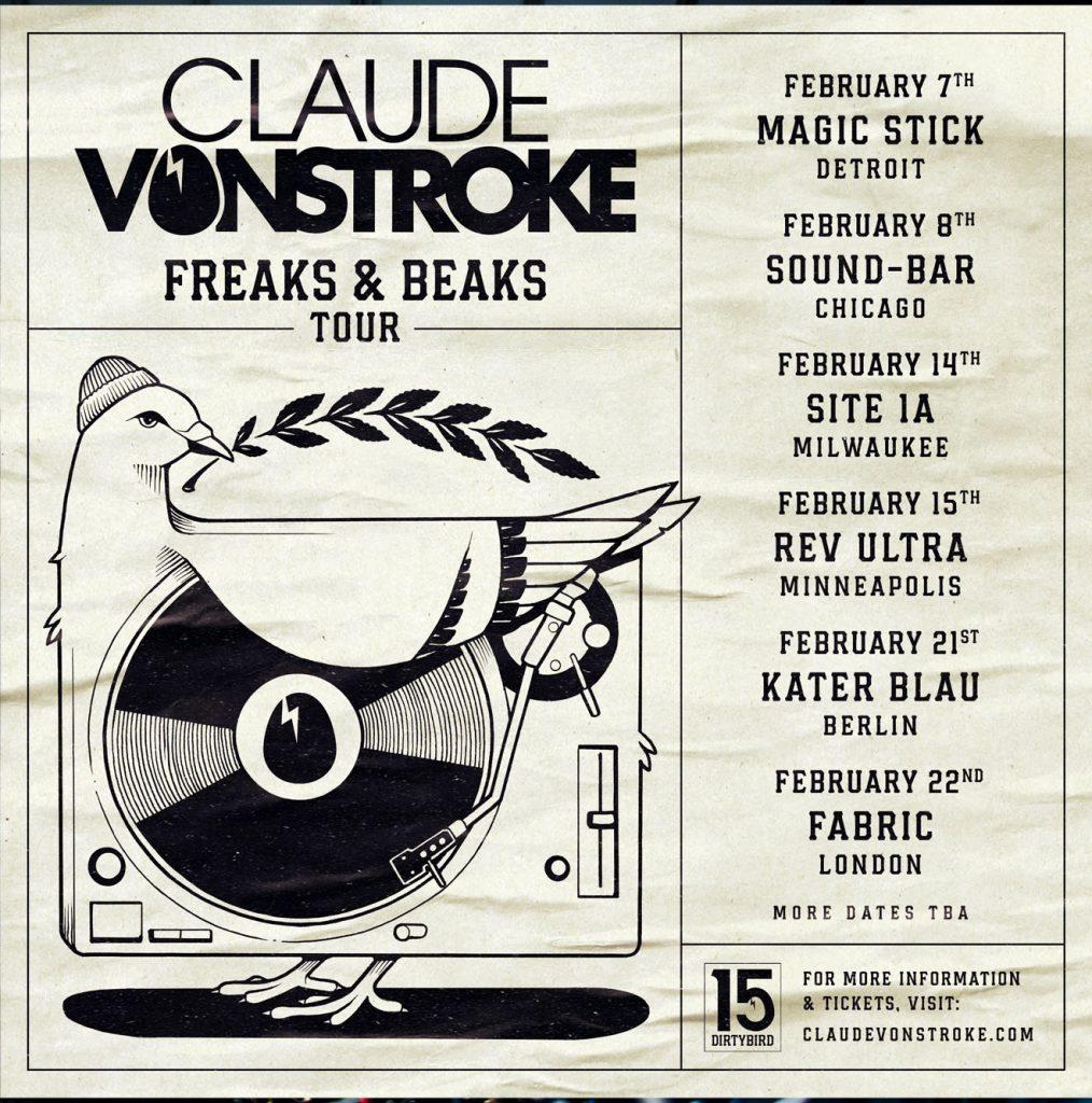 Claude-1014x1024 Claude VonStroke celebra 15 años de DIRTYBIRD y anuncia su cuarto álbum 'Freaks & Beaks'