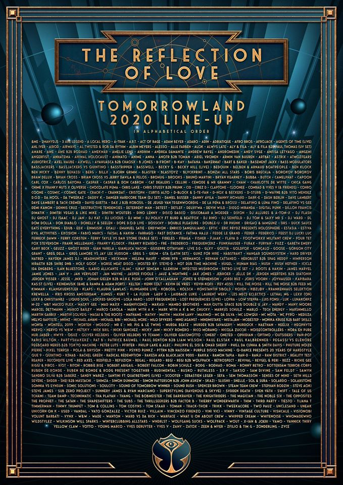 tomorrowland-2020-full-lineup-EDMred Tomorrowland 2020 > Cartel, noticias e info actualizada