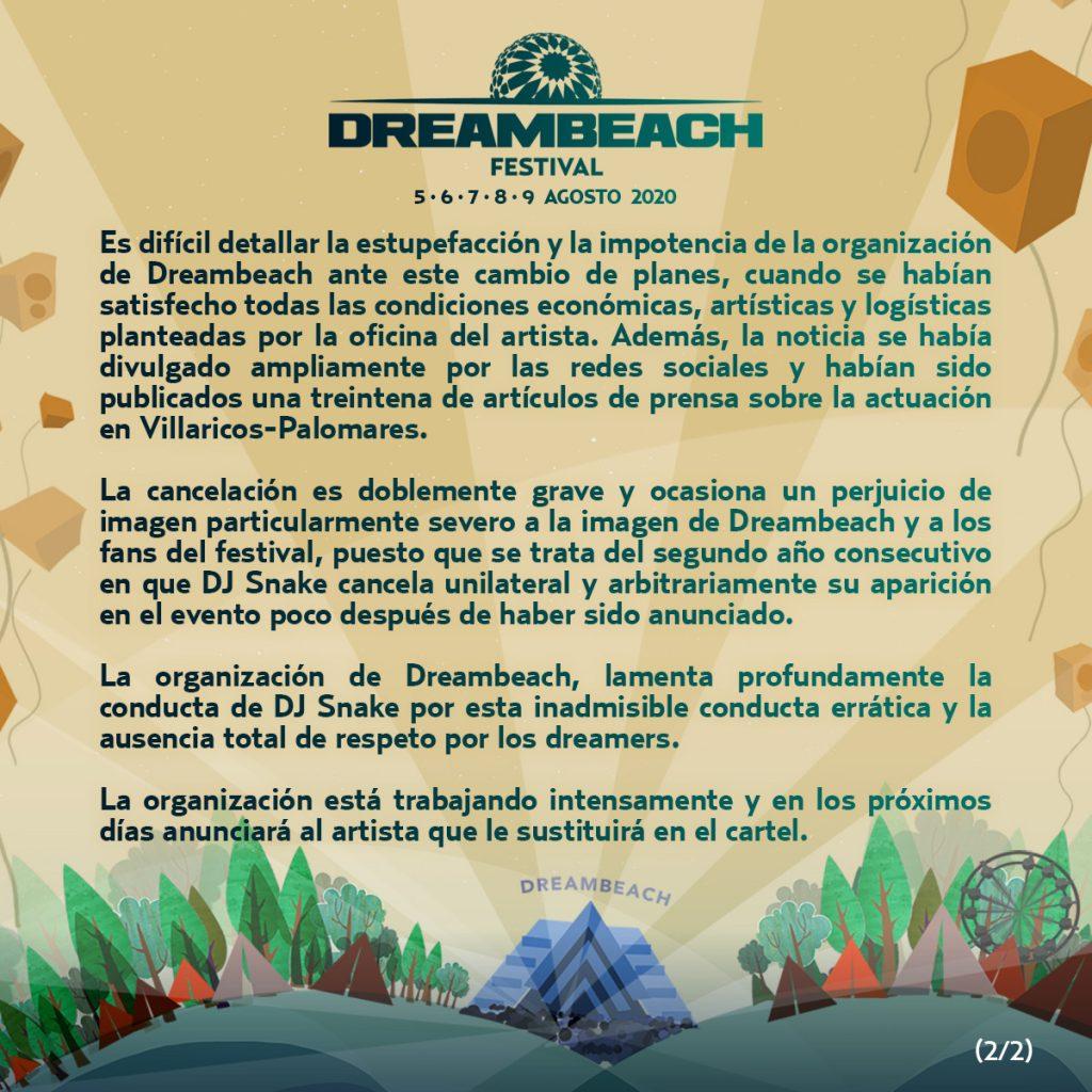 Comunicado-Dreambeach-y-Dj-Snake-part2-1024x1024 Dreambeach 2020 > Cartel, noticias e info actualizada