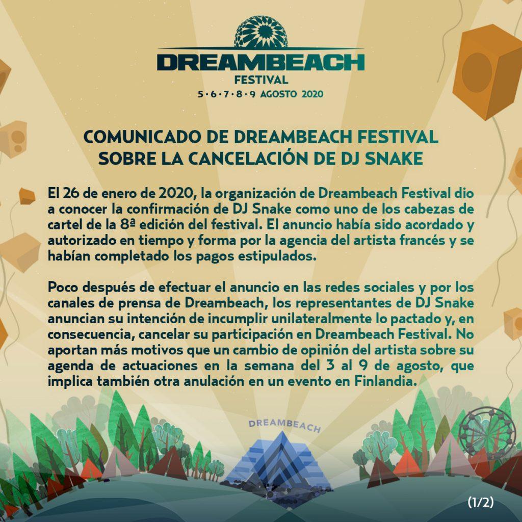 comunicado-Dreambeach-y-Dj-Snake-part1-1024x1024 Dreambeach 2020 > Cartel, noticias e info actualizada
