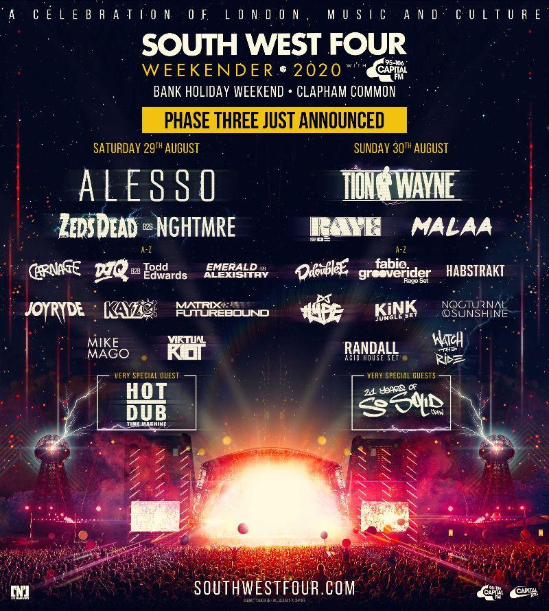 south-West-Four-Tercera-fase South West Four, el bass es el principal protagonista de su tercera fase