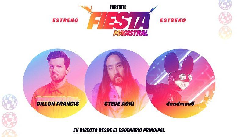 Photo of Steve Aoki, deadmau5 y Dillon Francis pincharán en Fortnite