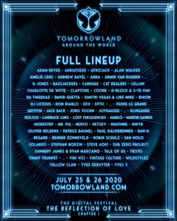 cartel-de-Tomorrowland-Around-The-World-EDMred Tomorrowland Around The World 2020: Cartel, info y horarios
