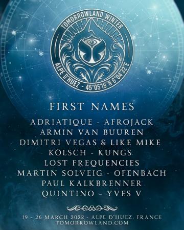 Tomorrowland Winter 2022 anuncia los primeros nombres